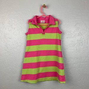 Hanna Andersson Size 110 Pink Green Polo Dress